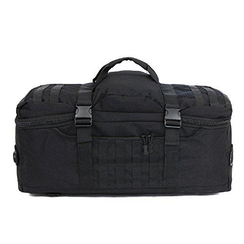 Bagage de plein air sac à extérieur en nylon Sac tactique militaire Sac à main de grande capacité Sac à dos pour voyage camping et sports multifonctionnel pour hommes 60L, Noir