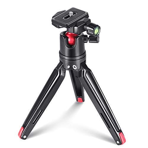 SMALLRIG Kamerastativ Mini Stativ Flexible 360° Kugelkopf mit 1/4 Schraubbefestigung für Canon/Sony/Nikon/Panasonic DSLR,GoPro, Smartphone, CNC Aluminium (Sony-stift-kamera)