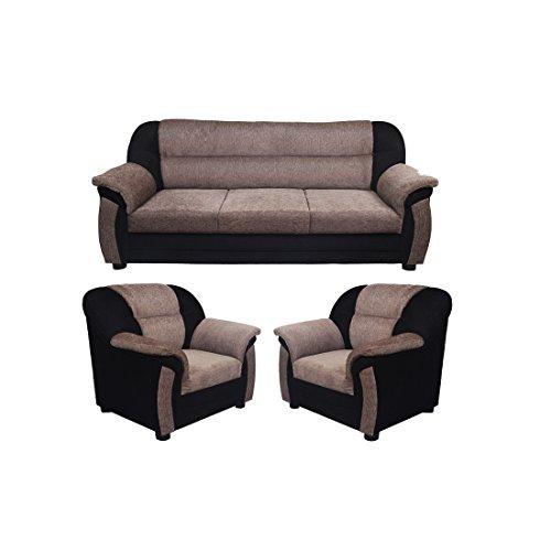 Look In Furniture Clara Sofa Set, 3+1+1(Grey)