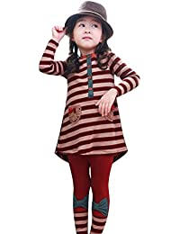 Free Fisher Mädchen 2tlg Bekleidungsset Kleid + Leggings