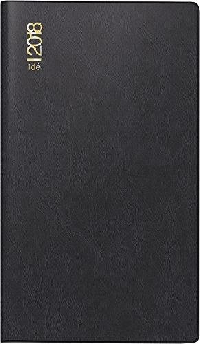 rido/idé 701211290 Wochenplaner TM 15, 1 Seite = 1 Woche, 87 x 153 mm, Kunststoff-Einband schwarz, Kalendarium 2018, Kalendereinlage auswechselbar
