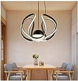 Colgante de luz Creativo LED Neo Curvado Moderno Simple Restaurante Iluminación de entrada Entrada caliente Slatted Room Shaped Lights
