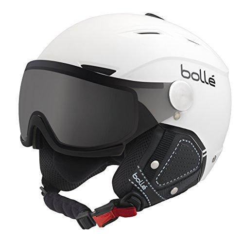 bollé Erwachsene Backline Visor Premium Skihelme, Soft White/Black, 54-56C