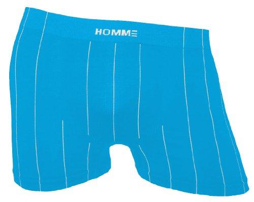Herren Boxer Shorts SEAMLESS mit Nadelstreifen, Microfaser (S/M, türkis)