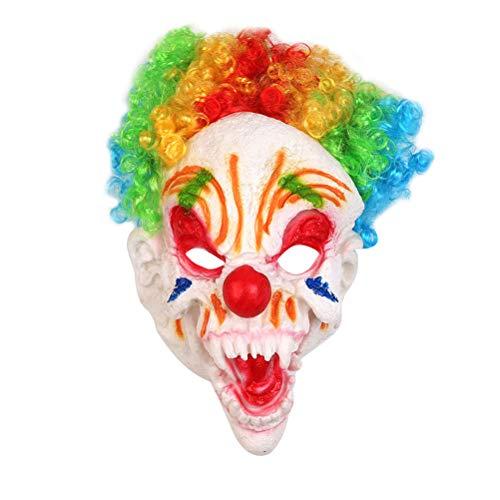 Amosfun 2 STÜCKE Halloween Clown Maske Horrific Demon Erwachsene Scary Clown Maske Großen Mund Lange Zunge Clown Maske Halloween Cosplay Kostüm Prop Horrific Performance Party Zubehör (Beängstigend Wirklich Masken Clown)