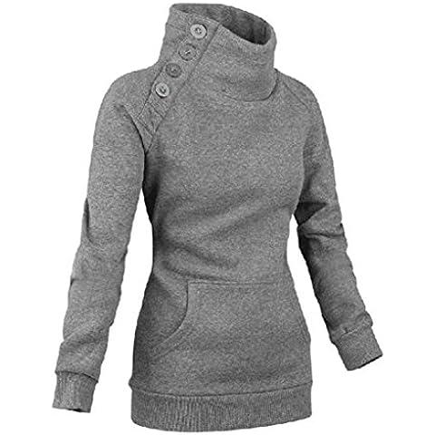 Baonoop_Mujeres Sudadera de manga larga Jumper Sweater Pullover