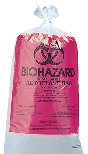 neoLab 3-1043 Biohazard-Autoklaviersäcke 61 x 91 cm, PP (100-er Pack)