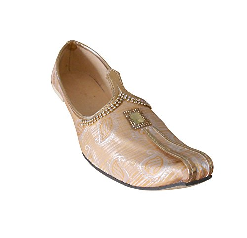 KALRA Creations Herren Traditionelle indische Seide casual Schuhe Multi-Color