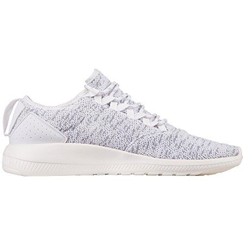 Kappa Flap, Sneaker Unisex – Adulto Weiß (1016 White/Grey)