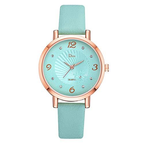 KiyomiQaQ Montres Femmes Montre Bracelet, Cuir Horloge Montre de Montres Digitales Montre Automatique Analogique Quartz Bijoux Bracelets de Montres Montres Connectées Pas Ch