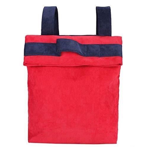 ZIHUINI Rucksack Frauen Falten Rucksack Herbst Winter Cord Patchwork Tasche Jugendliche Schule Daypack Getäfelten Farbe Große Reisetaschen, rot (Patchwork Tasche Cord)