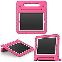MoKo Funda para iPad 2 / 3 / 4 - Material EVA Lightweight Kids Shock Proof Protector Cover Case con Manija para Apple iPad 2 / 3 / 4 9.7 Pulgadas Tableta, Magenta