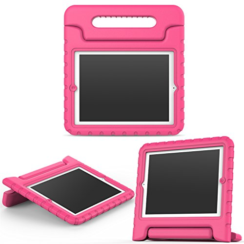 MoKo Funda para iPad 2/3 / 4 - Material EVA Lightweight Kids Shock Proof Protector Cover Case con Manija para Apple iPad 2/3 / 4 9.7 Pulgadas Tableta, Magenta