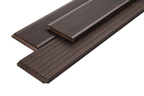 Woodstore BAMDR201393.711 Lot de 3 entretoises en bambou brut et finement strié 20 x 139 x 1870 mm
