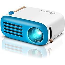 Mini Projecteur, ELEPHAS LED Pico Projecteur, Vidéoprojecteur Portable Compatible HDMI/USB/Smartphone/Ordinateur, Idéal pour Les Films et Jeux Vidéo.