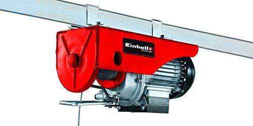 Einhell Seilhebezug TC-EH 250 (500 W, Not-Ausschalter, automatische Bremse und Endabschaltung, inkl. 12 m drallfreiem Drahtseil, Umlenkrolle mit Lasthaken und Sicherheitsbügel)