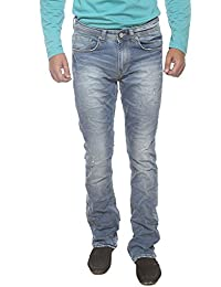 Spykar Mens Light Blue Slim Fit Low Rise Jeans (Rafter)