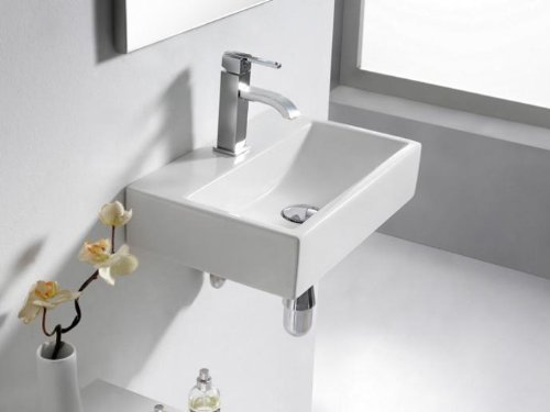 THE BATH COLLECTION - LAVABO PORCELANA RECT  PARIS 450X300X100 MM