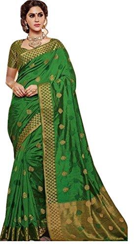 JAY SAREES South Silk Saree (Jca2018Fba11_Green_Free Size)
