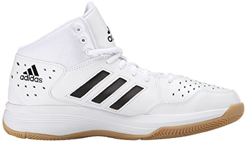 Adidas Performance Court Fury Basketballschuh, schwarz / weiÃ? / gum, 6,5 M Us White/Black/Gum