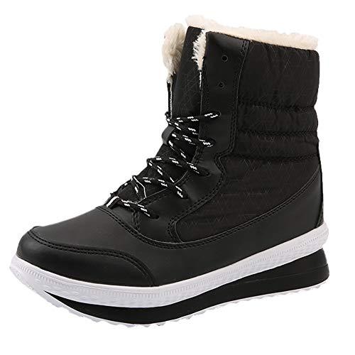 LCLrute Große Winterstiefel Damen warme Schneeschuhe Damen Winter warm halten Schuhe Mitte der Wade Plattform Stiefel 2018 Damenschuhe ()