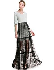 La Sra. verano dulce verano falda larga falda larga de gasa de encaje la correa de sujeción manguito grande ,L/EU40 falda-YU&XIN