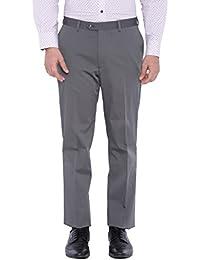 SUITLTD Grey Solid Slim Fit Trouser