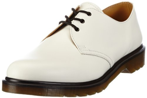 Dr. Martens 1461 Smooth 1461 Smooth White-1, Chaussures à lacets mixte adulte Blanc (White)