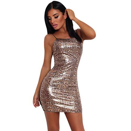 Damen sexy Leopardengurt Kleidung lässig Mode Nähen Riemen Minikleid URIBAKY
