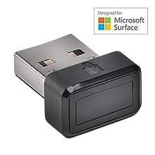Kensington VeriMark Designed for Surface - Best in Class Ultra-Secure USB Fingerprint Key Authenticator for Windows Login (Windows Hello) and Universal 2nd-Factor-Authentication (U2F) (K64707EU)