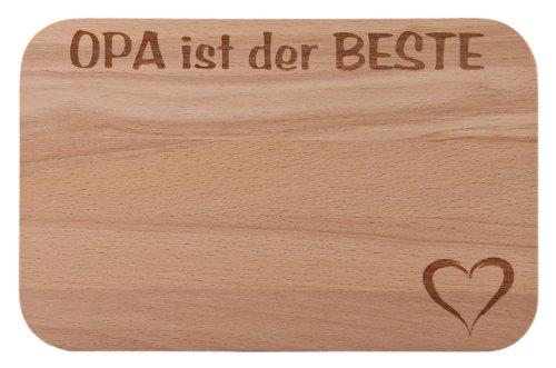 ühstücksbrettchen/Frühstücksbrett mit Gravur Opa ist der BESTE als Geschenk - aus Holz - Geschenkidee ideal zum Geburtstag oder zu Weihnachten ()