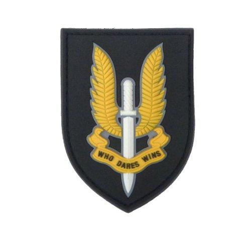 SAS PVC MORAL PATCH WHO DARES WINS SAS BADGE AIRSOFT ARMY BADGE