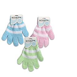 4 Pairs Exfoliating Spa Bath Gloves Shower Soap Body Wash Spa Replace Loofah Lot