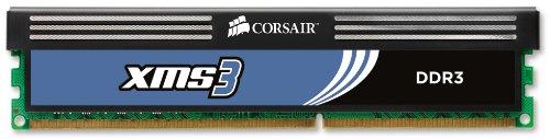 Corsair CMX32GX3M4A1600C11 XMS3 32GB (4x8GB) DDR3 1600 Mhz CL11 Performance Desktop Memory Kit