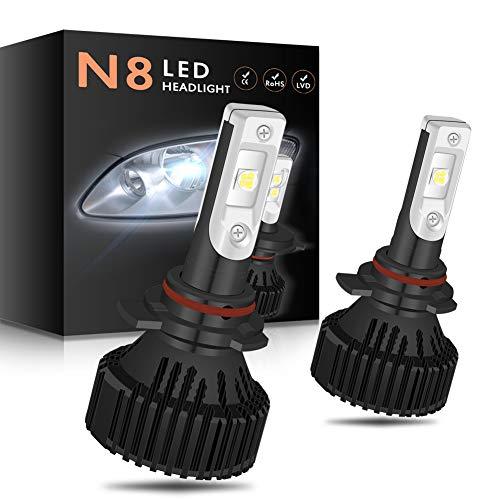 NGCAT, kit di conversione fari 9012 HIR2 con chip CREE-XHP50 10.000 LM, lampadine LED 6500K bianco puro per fari auto impermeabili DC 9-32 V (adatto per veicoli 12 V)