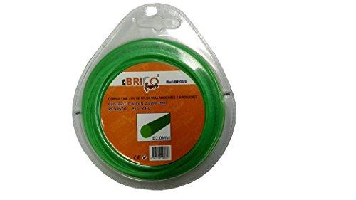 bricoferr BF099–für Motorsense Schnur 2mm x 15m, rund (Hi Lo Schnur)