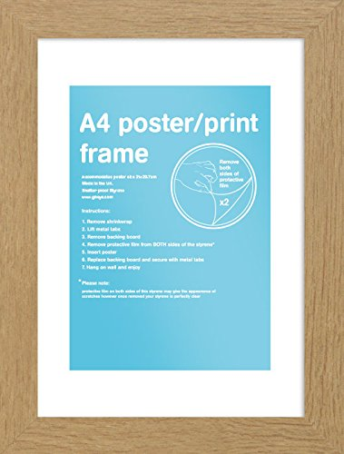 gb-eye-297-x-21-cm-a4-frame-oak-multi-colour