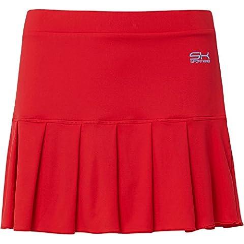 Sportkind–Camiseta sin mangas de mujer y niña para tenis/hockey/Golf falda con pantalón corto integrado en color rojo, talla desde 4años hasta XXL, mujer niña Infantil, color rojo, tamaño 11