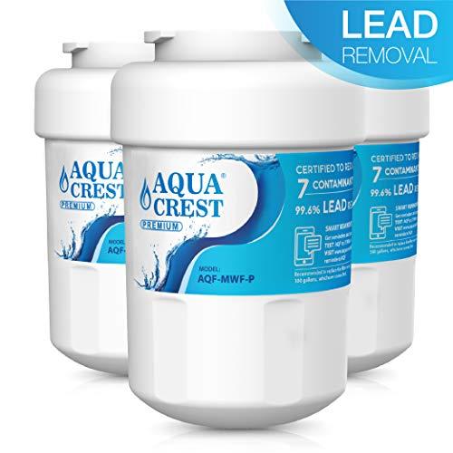 AQUACREST MWF NSF 53&42 Kühlschrank Wasserfilter, kompatibel mit General Electric GE SmartWater MWF MWFA MWFP GWF GWFA GWF01 101057A 101300A, Sears/Kenmore 9991 46-9991 9996 9905 (3) (Kühlschrank Mwf Ge Wasserfilter)