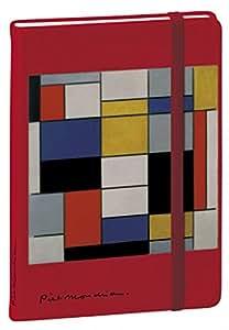 Quo Vadis - Mondrian - Carnet 15 Ligné - 192 Pages Papier Ivoire 10x15 cm