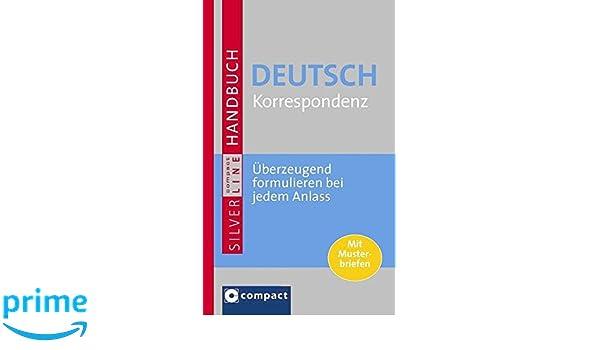 Handbuch Deutsch Korrespondenz Umfangreiches Nachschlagewerk Mit
