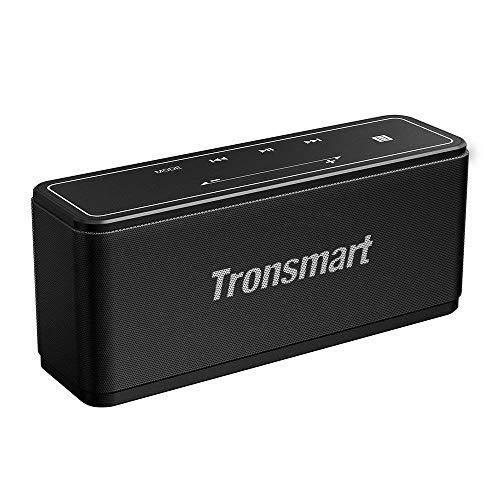 Tronsmart Mega Bluetooth Lautsprecher, 40W Extra Bass Touchpanel Kabelloser Tragbare Lautsprecher, 15h Spielzeit mit TWS/NFC, Eingebauten Mikrofon Musikbox für Party, Zuhause, Strand, Reisen -Schwarz