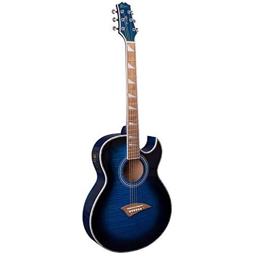 Lindo ORG-SL - Guitarra electroacústica con preamplificador y sintonizador LCD, color azul