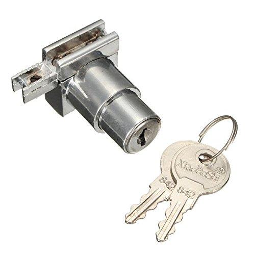 Yongse Chrome lega di zinco caso di esposizione Vetrina cerniera Glass Cabinet serratura di portello con 2 chiavi