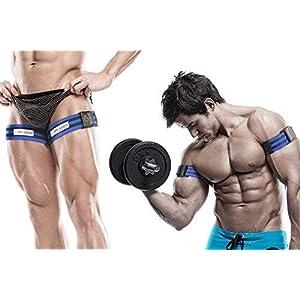 BFR BANDS Ocklusion Trainingsband, 1 Set Bänder, funktioniert für Arme oder Beine, Blutfluss-Bänder, hilft Muskeln zu gewinnen, ohne schwere Gewichte, starker Gummiband + Schnellverschluss