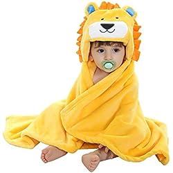 ARAUS Manta para Bebé Swaddle Diseño de Animal Capa de Franera Mantita con Capucha para Niños Niñas,0-3 Años