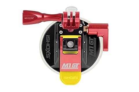 iSHOXS M1 GT, modèle Premium avec ProFork en aluminium et Mount Handle en aluminium, Profi Suction Cup en aluminium avec fixation sphérique 3D/360° pour GoPro et caméras sportives compatibles -