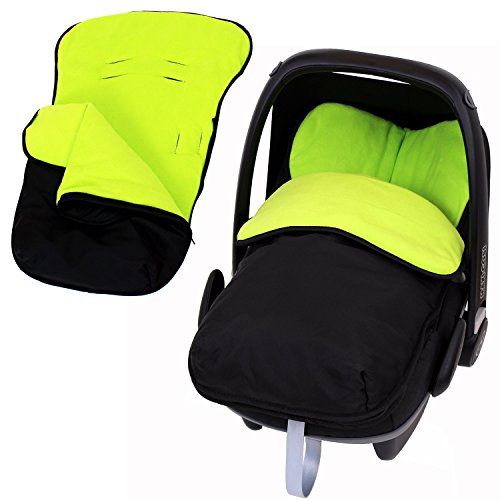 iSafe Universal Car Seat Footmuff To Fit Graco Junior Baby - Lime