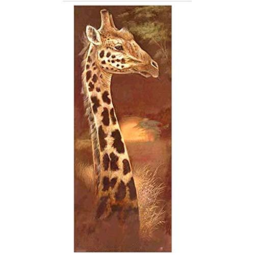 Sunnay Diamond Painting, Ernster Tiger Kräftig 5D Diamant Painting Voll Zeichnung Full Drill Großer DIY Stickerei Kreuz Stich Bilder Wohnzimmer (Große Giraffe, 20 x 50cm) -