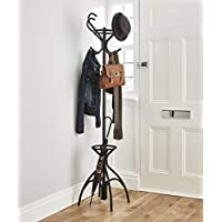 Direct Online Houseware Vintage Style Coat Stand With 8 Hooks In Black